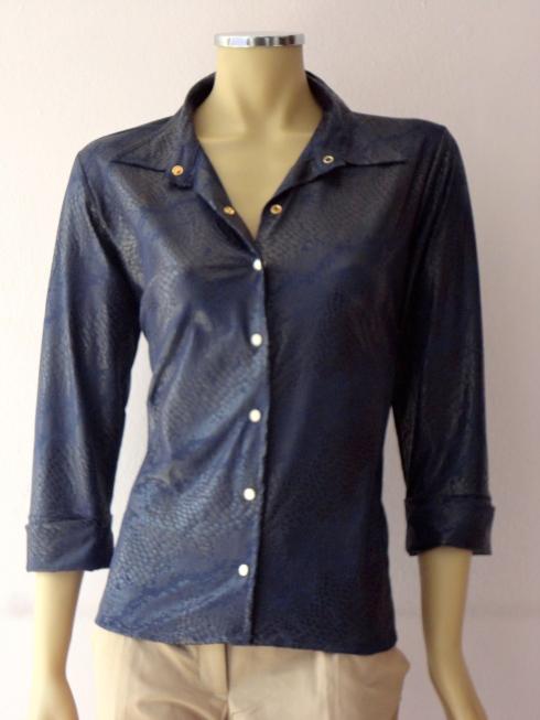 Camisa marca Talento em Croco com suplex. Super confortável R$ até tam 54