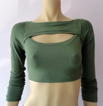 Mais uma opção em blusa crooped R$
