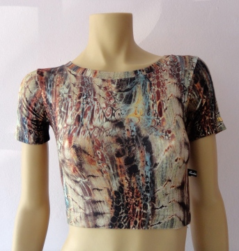 Blusa crooped R$ 59,90.