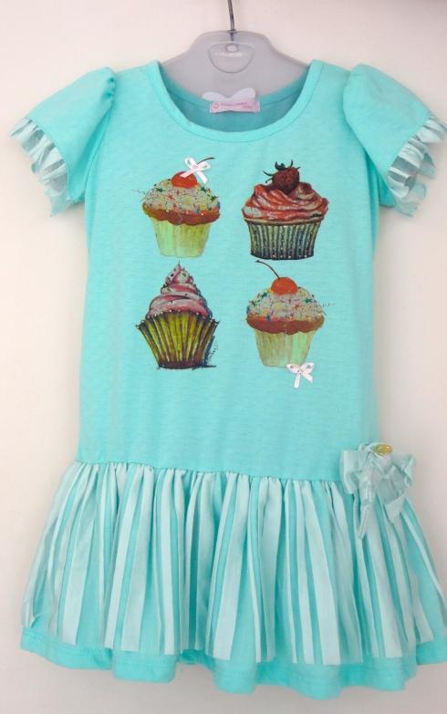 Vestido fofo Cupcakes. Tam 2 a tam 6