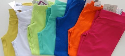 Leggings infantis cores verão. R$