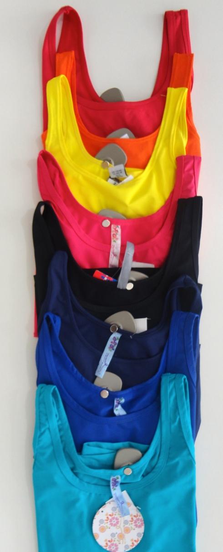 regatas em suplex , use embaixo de blazers, camisas e até mesmo sozinhas com shorts e saias ! R$