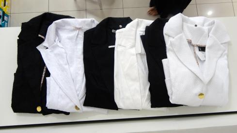 Vários opções de tecido e modelo de blazers